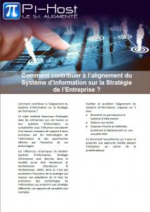 Aligner le système d'information sur la stratégie d'entreprise